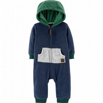 Carter's Zip-Up Hooded Fleece Jumpsuit