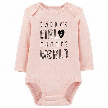 Carter's Daddy's Girl Mommy's World L/S Collectible Bodysuit