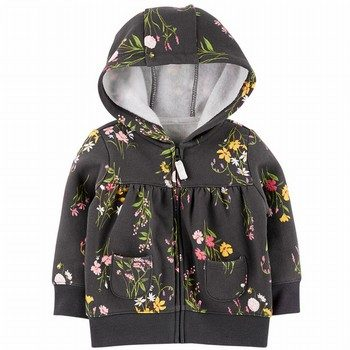 Carter's Floral Zip-Up Fleece Hoodie