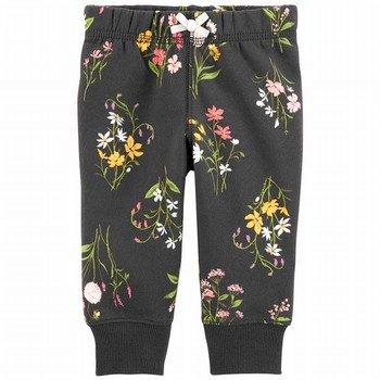 Carter's Floral Pull-On Fleece Pants