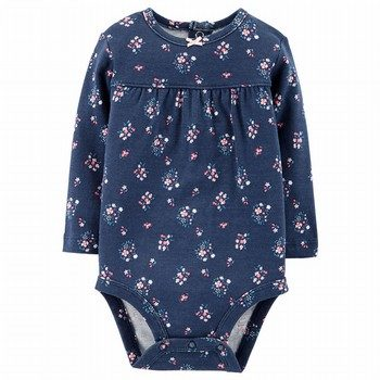 Carter's Floral L/S Collectible Bodysuit