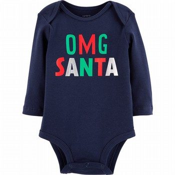 Carter's 'OMG' Santa Collectible Bodysuit