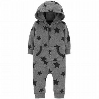 Carter's Hooded Fleece Star Jumpsuit