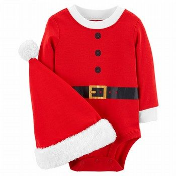 Carter's 2PC Santa Bodysuit & Hat Set