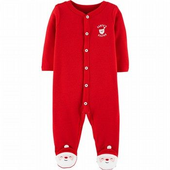 Carter's Christmas Snap-Up Thermal Sleep & Play Onepiece