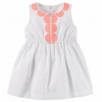 Carter's Embroidered Poplin Dress