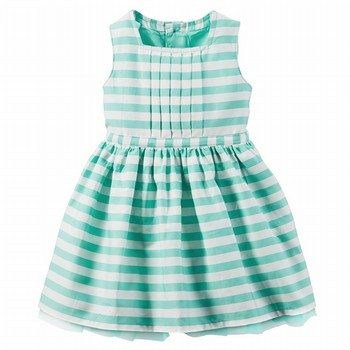Carter's Striped Poplin Dress