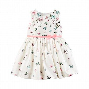 Carter's Butterfly Sateen Dress