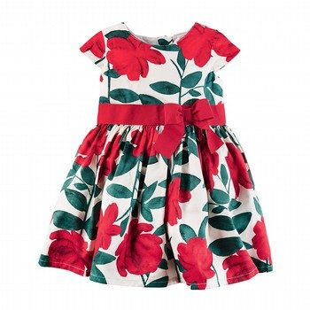 Carter's Sateen Floral Dress