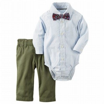 Carter's 2PC Button-Front Bodysuit & Pant Set