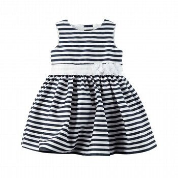 Carter's Sateen Striped Dress