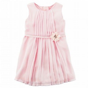 Carter's Rosette Chiffon Dress