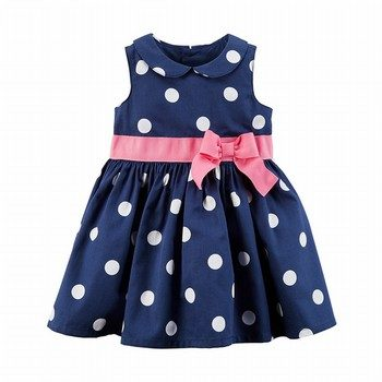 Carter's Polka Dot Sateen Dress