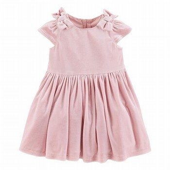 Carter's Bow Velour Dress
