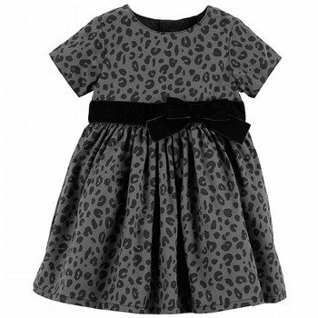 Carter's Cheetah Print Sateen Dress