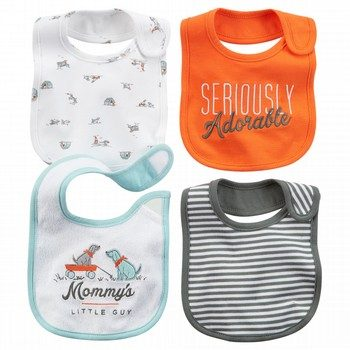 Carter's 4PK Blue Puppy Bib Set