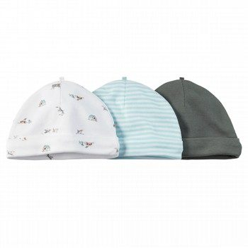 Carter's 3PK Blue Puppy Beanies