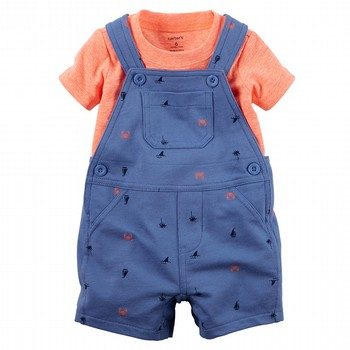 Carter's 2PC Neon Tee & Shortalls Set
