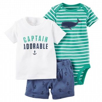 Carter's 3PC Bodysuit & Shorts Set