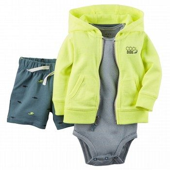 Carter's 3PC Cardigan & Bodysuit Set