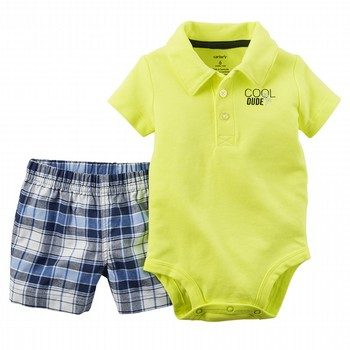 Carter's 2PC Neon Bodysuit & Short Set