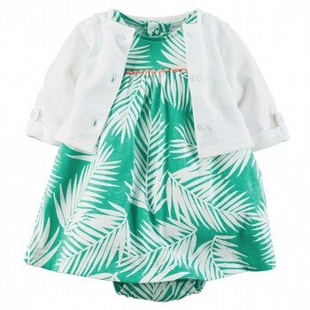 Carter's 2PC Bodysuit Dress & Cardigan Set