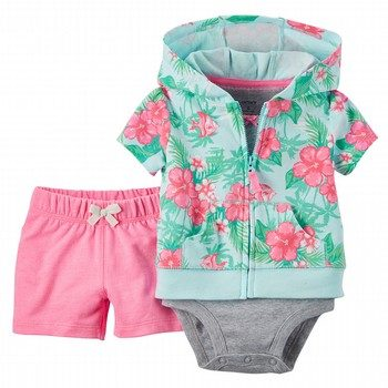 Carter's 3PC Short-Sleeve Cardigan Set