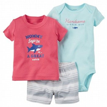 Carter's 3PC Short & Bodysuit Set