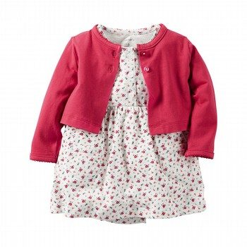 Carter's 2PC Dress & Cardigan Set