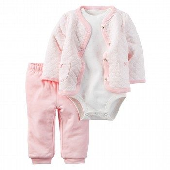 Carter's 3PC Babysoft Cardigan & Bodysuit Set