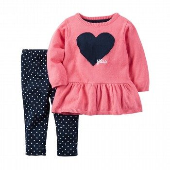 Carter's 2PC Sweater Tunic & Pant Set