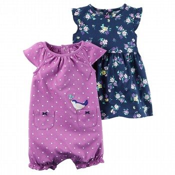 Carter's 2PK Dress & Romper Set