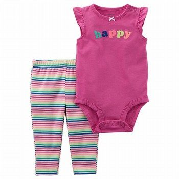 Carter's 2PC Bodysuit Neon Pant Set