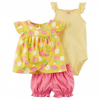 Carter's 3PC Bodysuit & Diaper Cover Set