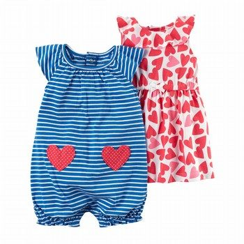 Carter's 3PC Dress & Romper Set