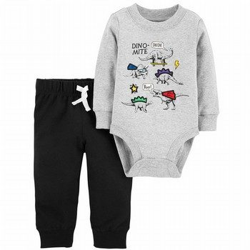 Carter's 2PC Dinosaur Tee & French Terry Jogger Set