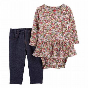 Carter's 2PC Peplum Bodysuit Pant Set
