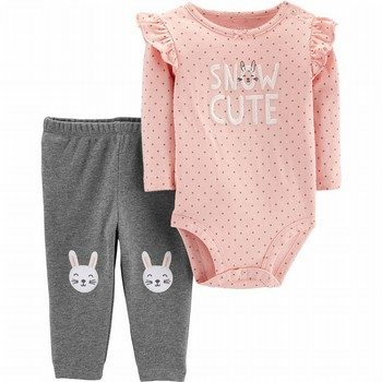 Carter's 2PC Bunny Bodysuit Pant Set