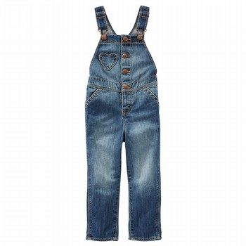 OshKosh Heart Pocket Denim Overalls