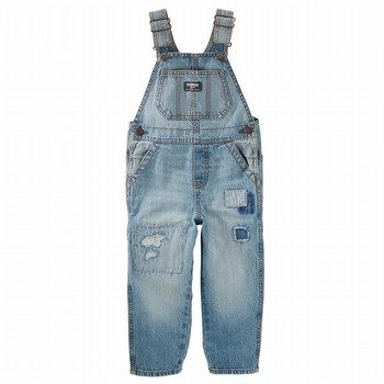 OshKosh Rip-&-Repair Denim Overalls - Natural Indigo