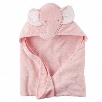 Carter's Pink Elephant Hooded Towel