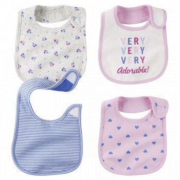 Carter's 4PK Heart Bib Set