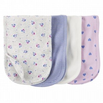 Carter's 4PK Heart Burp Cloths