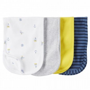 Carter's anchor 4 pack burp cloths