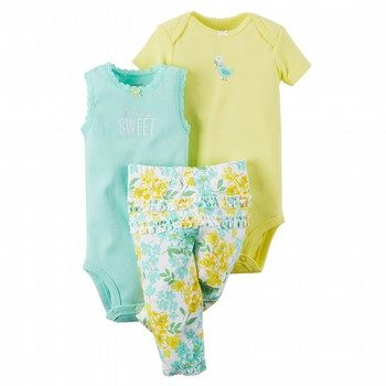 Carter's 3PC Bodysuit & Pant Set