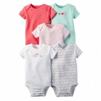 Carter's Hello Cutie 5PK Bodysuit Set