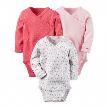 Carter's Hello Cutie 3PK L/S Bodysuit Set