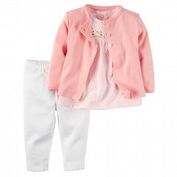 Carter's 3PC Cardigan & Pant Set