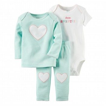 Carter's Hello Cutie 3PC Bodysuit & Pant Set