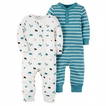 Carter's Wild One 2PK footless Onepiece Set